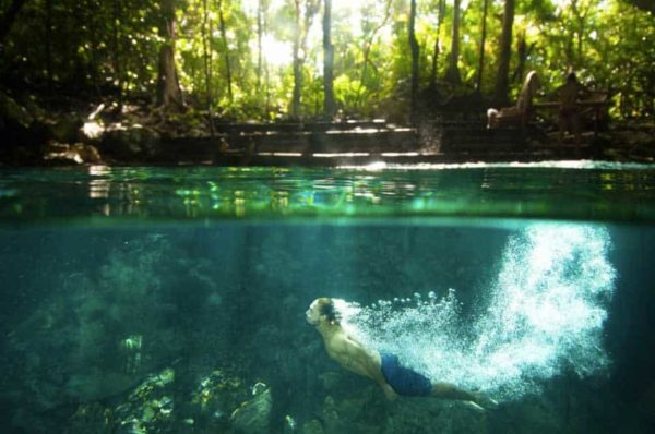 emotions swimming cenote
